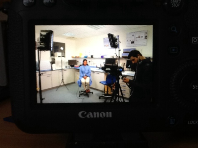 Interview at Fisher BioServices UK lab