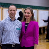 Science Department Dean and Faculty at a Research Poster Session