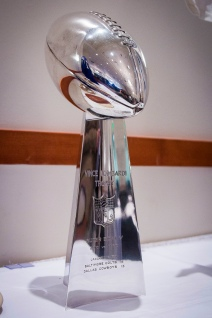 The Lombardi Trophy won by the Baltimore Colts