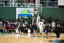 Stevenson Basketball Player Going for a Dunk