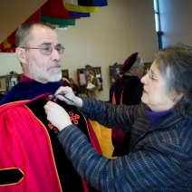 Faculty Preparing for Graduation at Stevenson University
