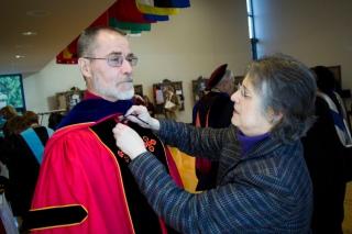 Faculty Preparing for Graduation at Stevenson University
