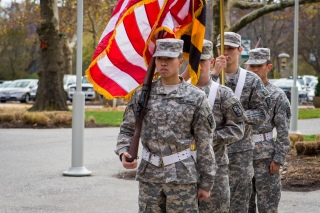 Military Presentation of Flags at Stevenson University