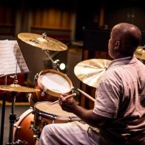 Jazz musician at a concert